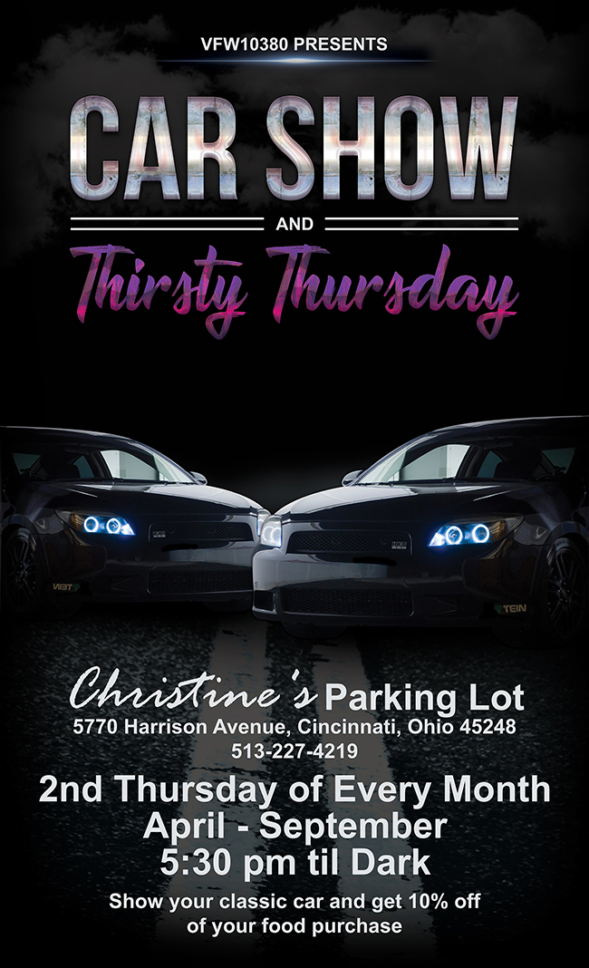 Christine's Casual Dining Car Show Poster